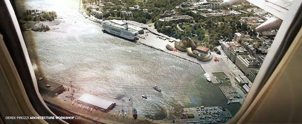 DPAW Guggenheim Helsinki - Aerial View