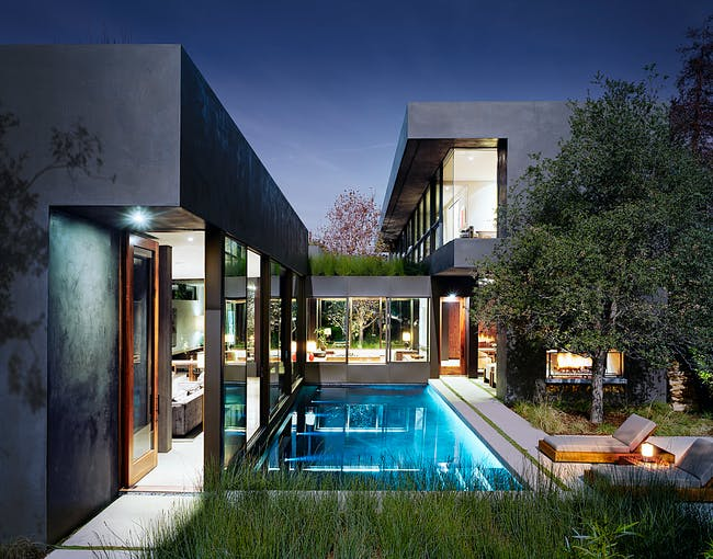 Vienna Way Residence designed by Marmol Radziner. Photo: Joe Fletcher Photography.