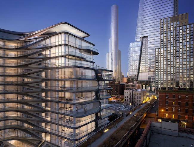 CGi design scheme for 520 W 27th St, New York | Zaha Hadid by Visualhouse. Image © Visualhouse