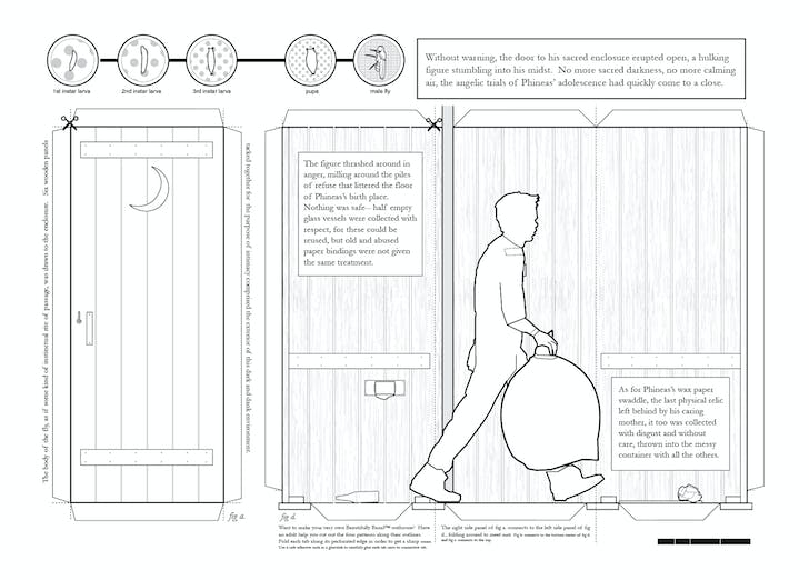 'Outhouse Unrolled Elevation.' Image: Architecture Hero