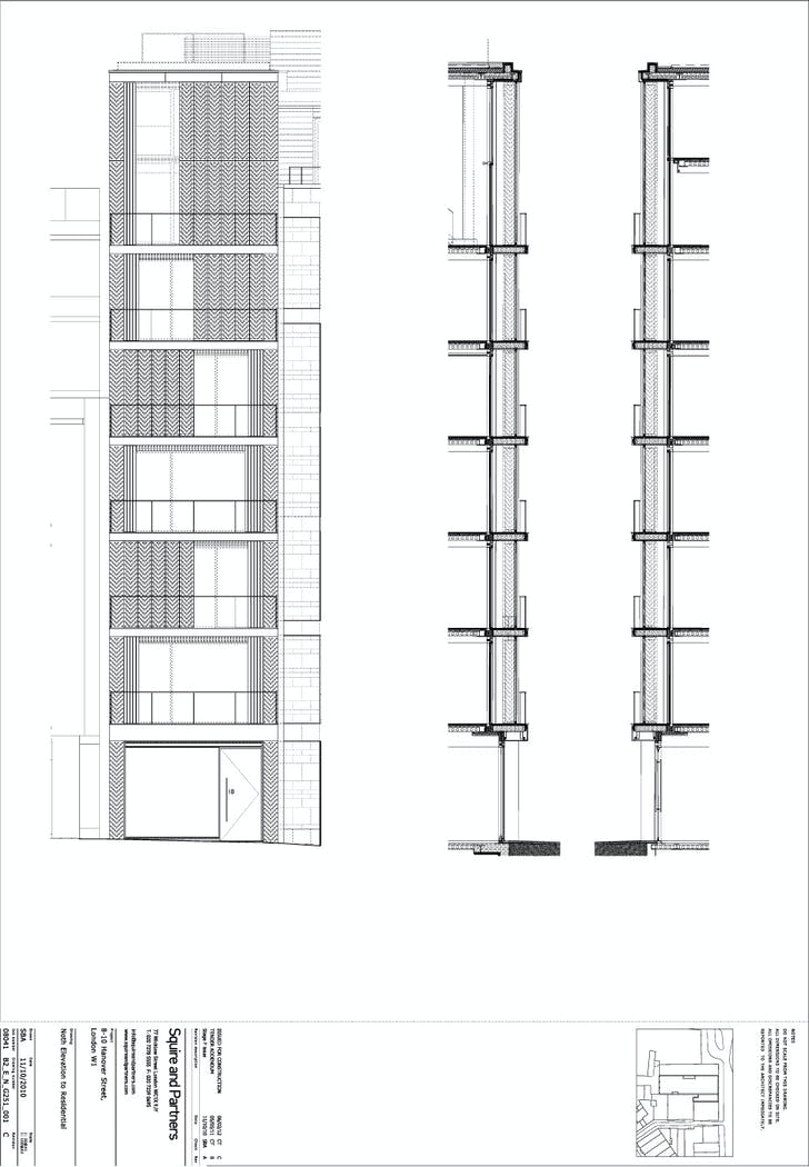 North Elevation - Residential. Image courtesy of Squire and Partners.