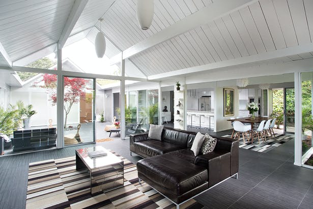 Double Gable Eichler Remodel by Klopf Architecture