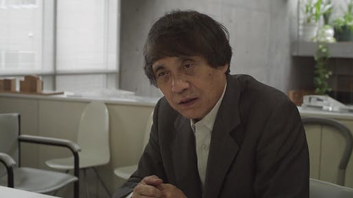 Tadao Ando: 'I wanted to make something which no one else could, a very quiet piece of architecture, made from basic materials.' (Screen shot from 152 Elizabeth Street video interview)