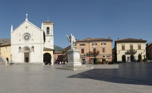 The earthquake has destroyed the 14th century Basilica of St. Dominic