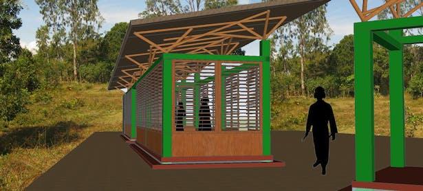 Training pavilion