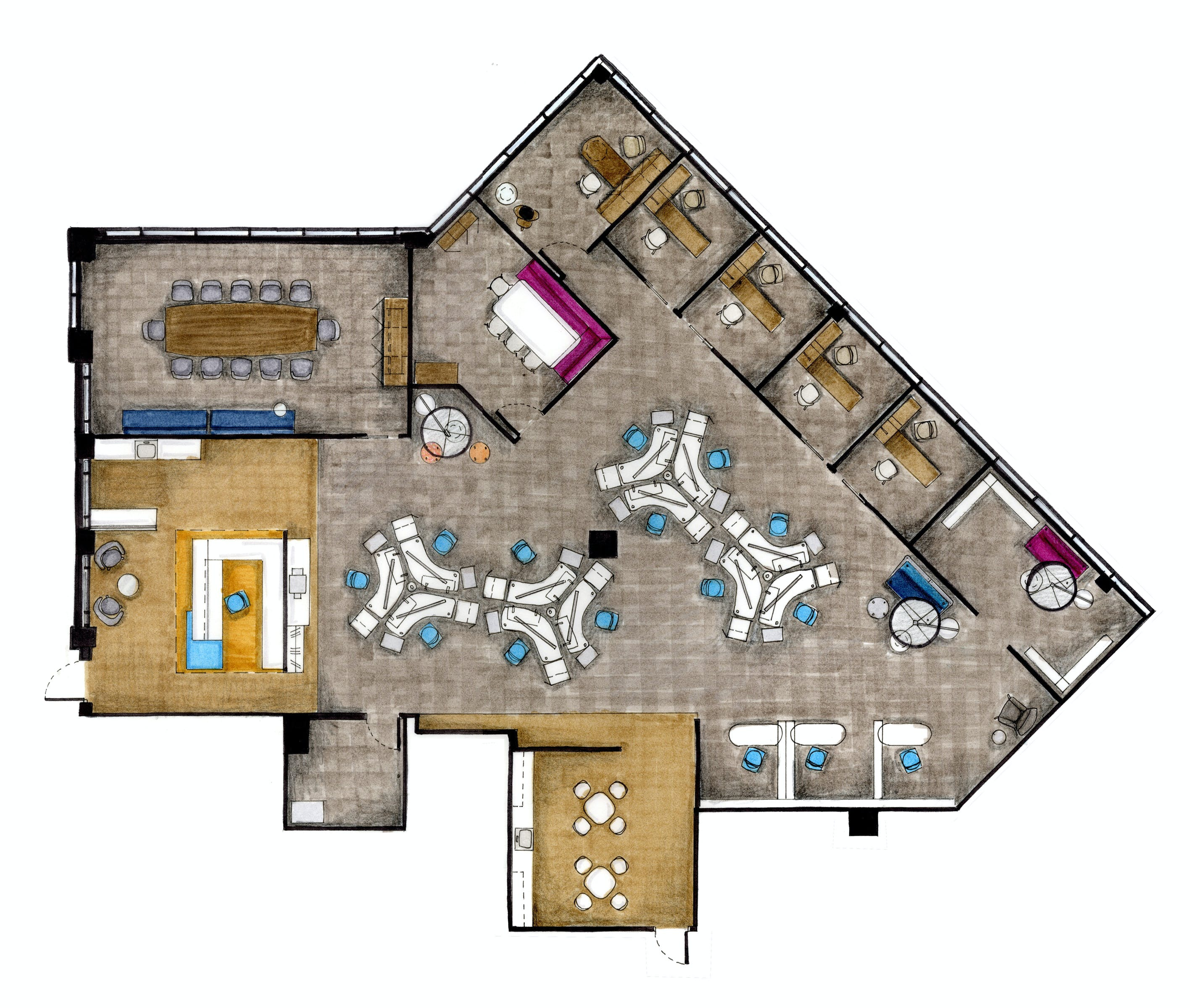 advertising agency office. Office Floor Plan Advertising Agency A