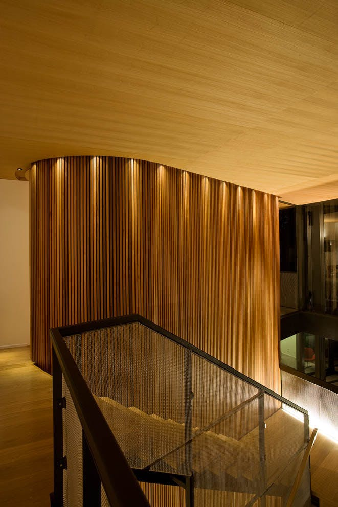 Ten top images on archinect 39 s wood pinterest board - Empanelados de madera ...