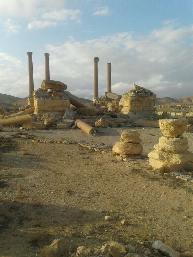 Tetrapylon, March 2, 2017. Photo via the Syrian Directorate-General of Antiquities & Museums.