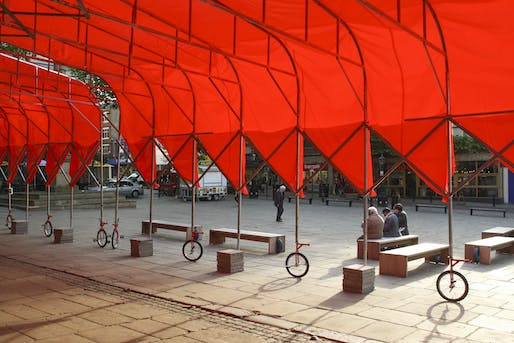 Best Temporary & Demonstration Architecture - People's Architecture Office: People's Canopy, Preston, U.K. Photo credit: Azure