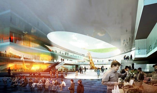 Entrance (Image: Henning Larsen Architects and Van den Berg Groep)