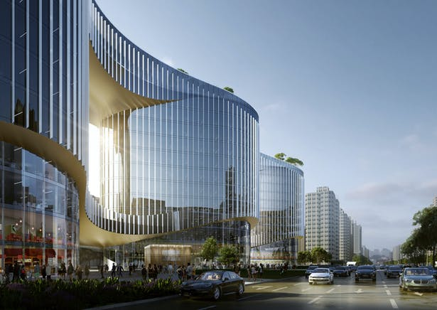 Zhenghong Property Air Harbour Office, Zhengzhou, China, by Aedas