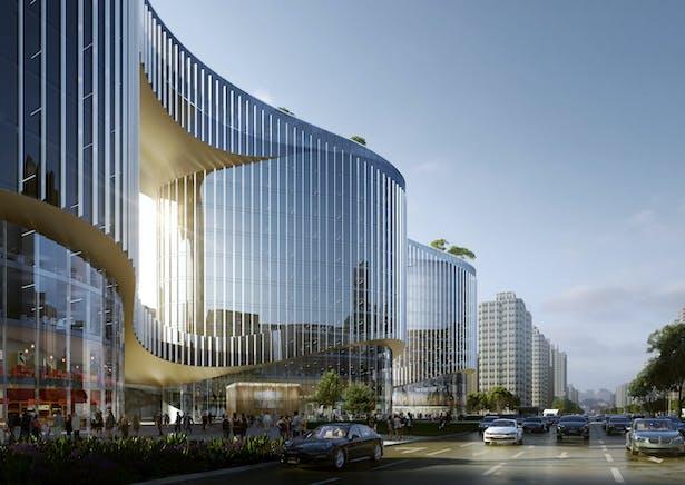 Zhenghong Property Air Harbour Office, Zhengzhou, China, by Aedas
