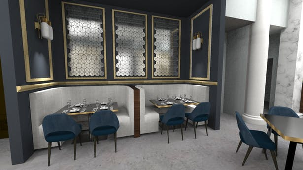 Restaurant - Dining Area Perspective