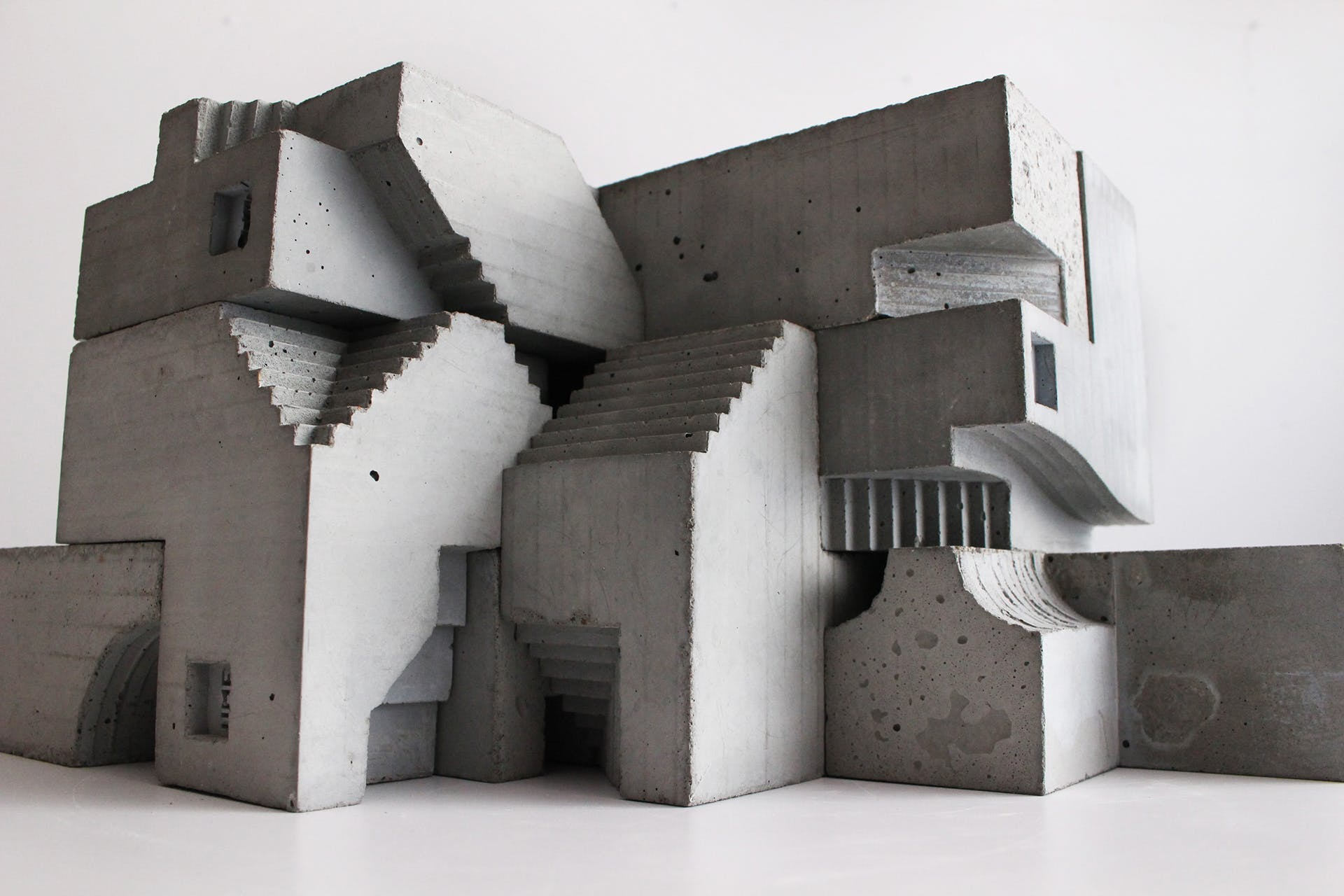 Brutalist sculptures by David Umemoto   News   Archinect
