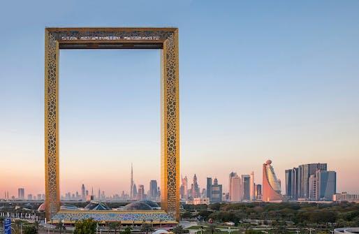 Award for Long Span Structures: The Dubai Frame.