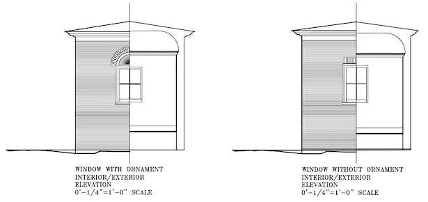 Window elevations.