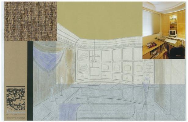 Contemporary Condo   Interior Hand-Sketch