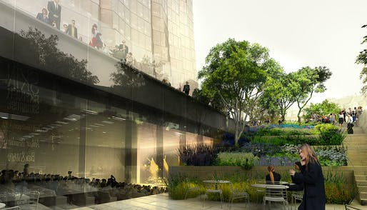 Conference Center Courtyard. Image © Studio Gang.