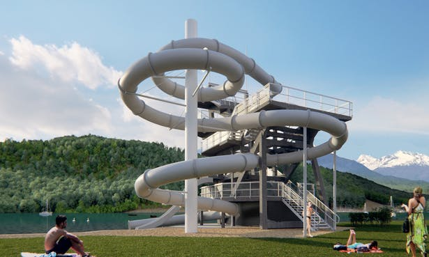 Slide Tower Millstatt / Söhne & Partner architects