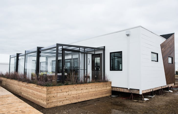 7c9c53bd9 The Northwestern University team s Enable house built for the U.S.  Department of Energy Solar Decathlon 2017 at the 61st and Peña Station in  Denver