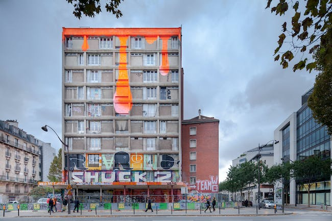 Over 100 urban artists repainted the 'Tour 13' in Paris right before its scheduled demolition in late 2013. Photo: Yohan Zerdoun