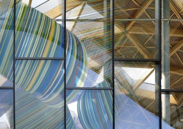The Forum, University of Exeter - Detail of glazed art by Alexander Beleschenko