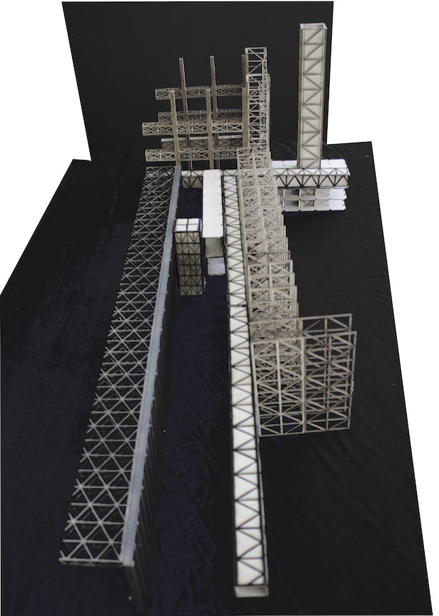 Section model expressing variation in structure of the facility.