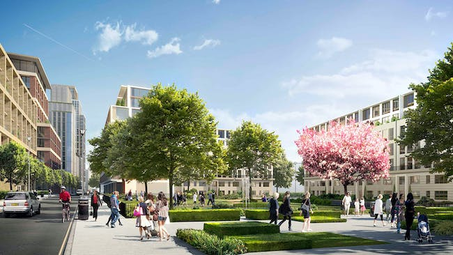 Future projects masterplanning winner: Earls Court masterplan, UK by Farrells. Image courtesy of WAF.