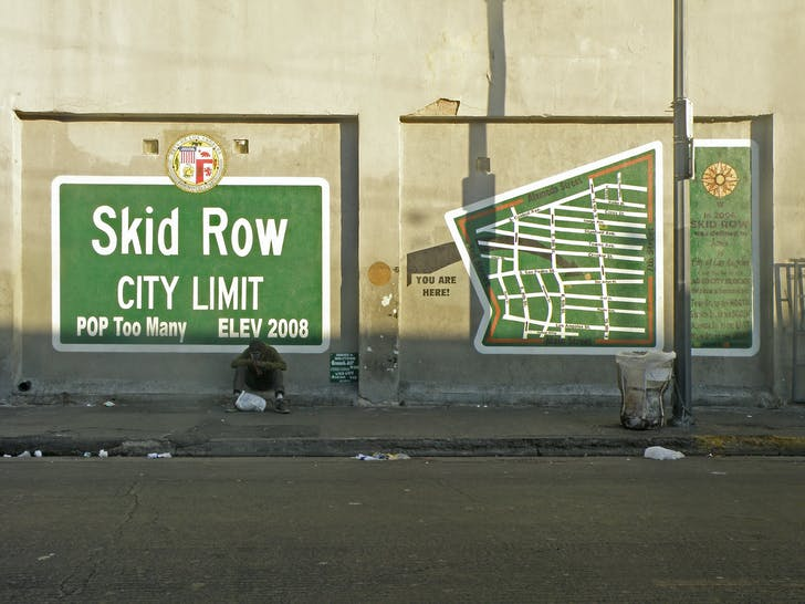 Skid Row, Los Angeles. Image via flickr/Laurie Avocado.