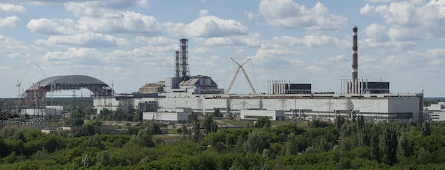 Chernobyl Nuclear Power Plant in June 2013. Image via Wikipedia.