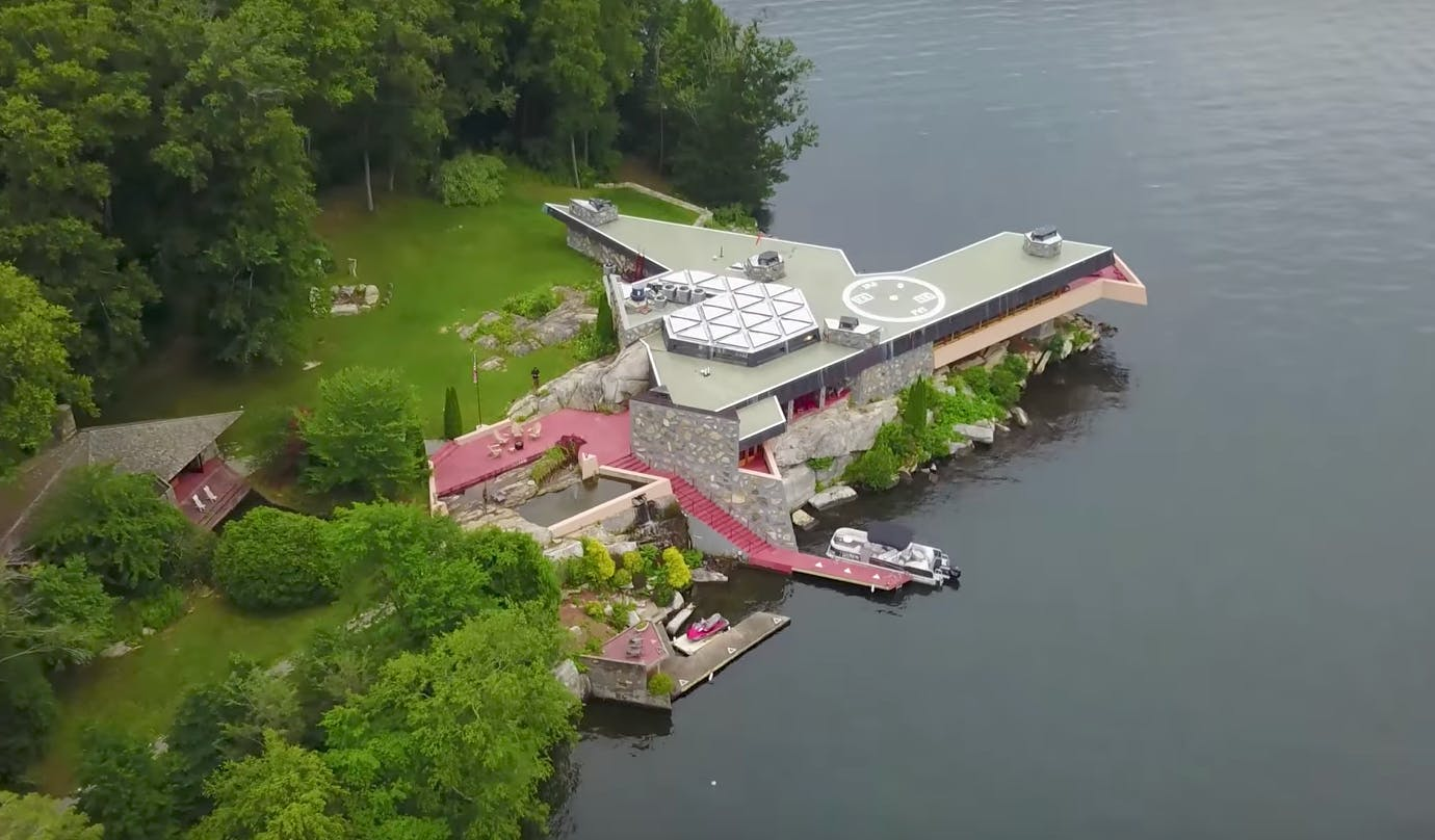 This private island with two Frank Lloyd Wright-designed homes is on ...
