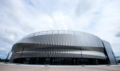 Nassau Veteran's Memorial Coliseum Transformed With Ethereal Metal Design System Created With Alucobond PLUS naturAL ACM