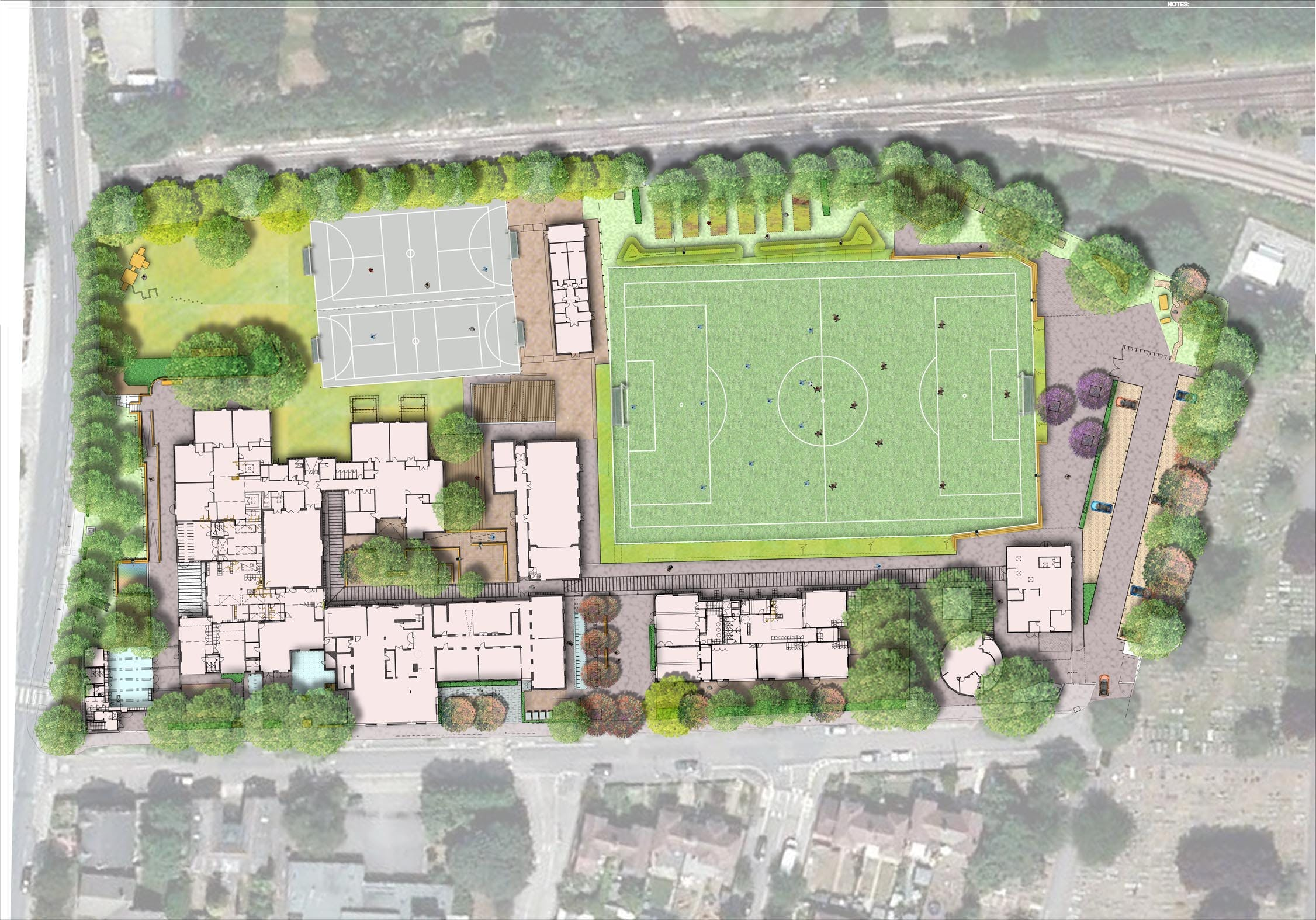 Stanley primary school davis landscape architecture for School project plan