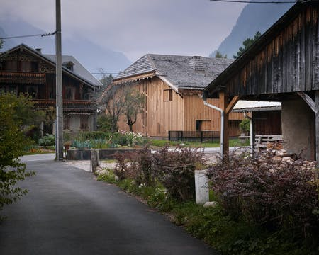 Street view of Villa Solaire in Pied de La Plagne, Morzine, France (Photo: Julien Lanoo)