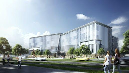Jinwan Aviation City Research and Development Center, Zhuhai, China. Image courtesy of 10 DESIGN.