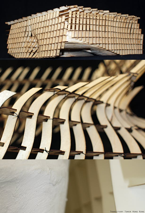 Parametric models _ CNC and laser cut. 1: precedent (Broad Museum) 2: transformation 3: final model (6' tall)