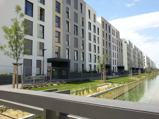 Passive House city district in Heidelberg, Germany (photo by Passive House Institute)