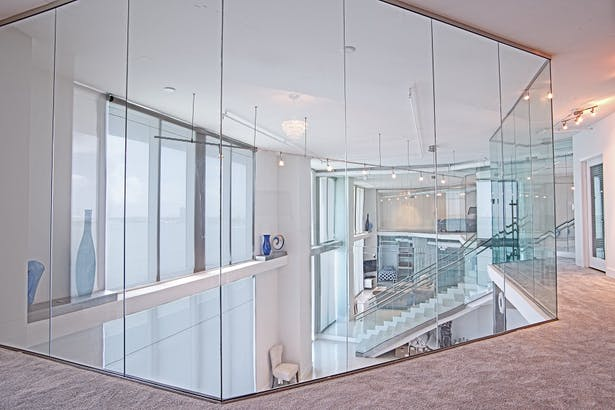 Residential Glass Walls Amp Railings Bella Stairs Llc