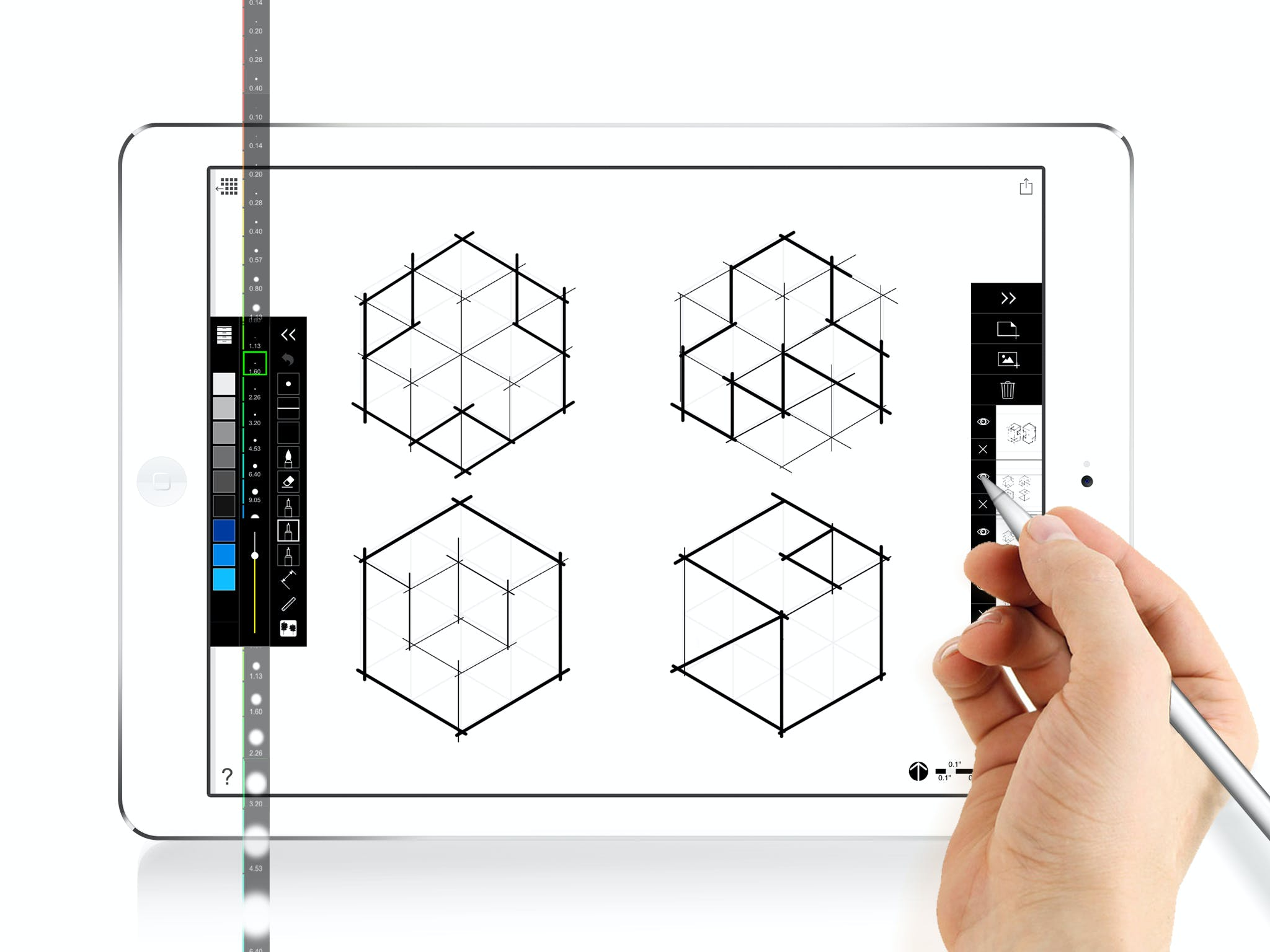 morpholio 39 s new scalepen offers a new way to draw on trace app news archinect. Black Bedroom Furniture Sets. Home Design Ideas