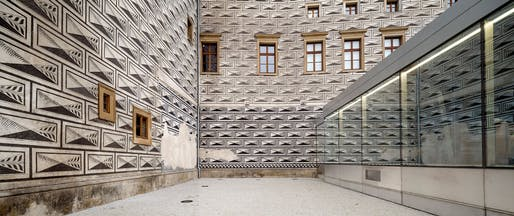 Part of the Prague National Gallery Entrance Hall by Mateo Arquitectura. Photo: Adrià Goula