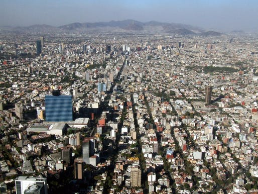 Aerial of Mexico City.