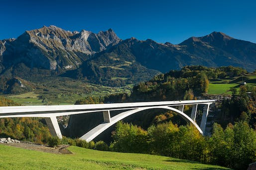 Winner of the Supreme Award for Structural Excellence & the Award for Vehicle Bridges: Tamina Canyon Crossing. Photo: Bastian Kratzke.