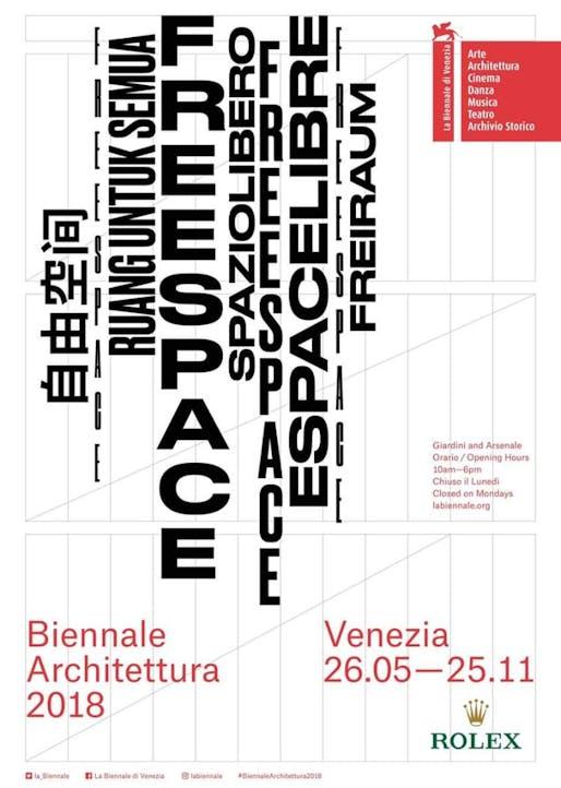 2018 Venice Biennale event poster. Image via Twitter.