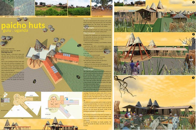 Small-scale Intervention, Third Place: Paicho Huts, outside Gulu, Uganda (recipient: Founders' Award)