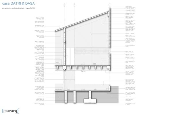 constructive technical details - casa DATRI