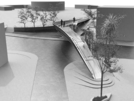 The Footbridge at Tasos Papadopoulous Avenue by EP Architects. Image: EP Architects