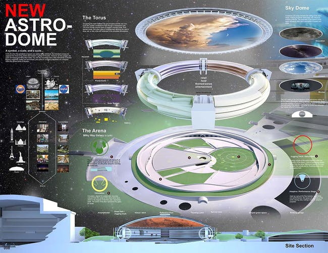 3rd place - The New Astrodome by Cruz Crawford and Elle Kuan