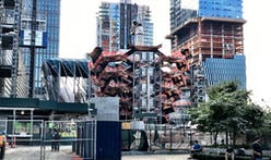 Thomas Heatherwick's 150-foot climbable 'Vessel' hits halfway mark at Hudson Yards