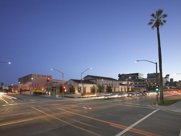 The historic and new buildings complete the Wallis Annenberg Center for the Performing Arts