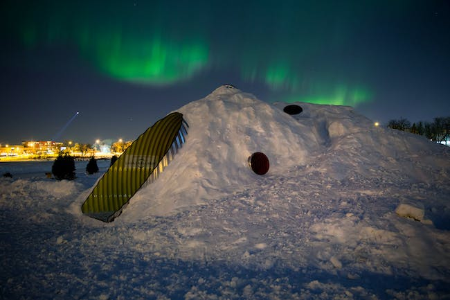 Night View With Northern Lights. Photo credit: Leif Norman